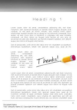 Thanks Word Template, First Inner Page, 10770, Business Concepts — PoweredTemplate.com