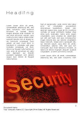 Fingerprint Security Word Template, First Inner Page, 10772, Technology, Science & Computers — PoweredTemplate.com