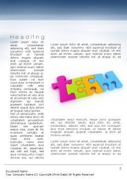 Team Puzzle Word Template First Inner Page