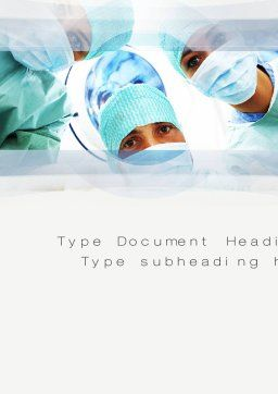 Surgeons Word Template, Cover Page, 10775, Medical — PoweredTemplate.com