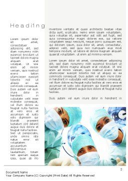 Surgeons Word Template, First Inner Page, 10775, Medical — PoweredTemplate.com