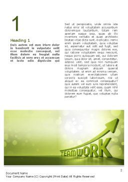 Teamwork Development Word Template, First Inner Page, 10777, Careers/Industry — PoweredTemplate.com