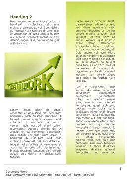 Teamwork Development Word Template Second Inner Page