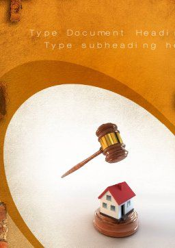 Property Law Word Template, Cover Page, 10778, Legal — PoweredTemplate.com
