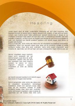 Property Law Word Template, First Inner Page, 10778, Legal — PoweredTemplate.com