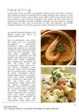 Sea Food Recipes Word Template First Inner Page