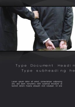 Defendant Word Template, Cover Page, 10780, Legal — PoweredTemplate.com