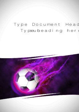 Soccer Ball on Purple Word Template, Cover Page, 10783, Sports — PoweredTemplate.com