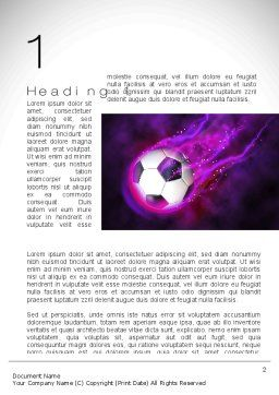 Soccer Ball on Purple Word Template, First Inner Page, 10783, Sports — PoweredTemplate.com