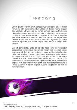 Soccer Ball on Purple Word Template, Second Inner Page, 10783, Sports — PoweredTemplate.com