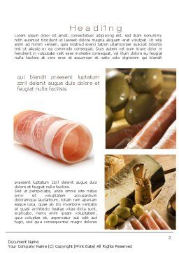Charcuterie Recipes Word Template, First Inner Page, 10785, Food & Beverage — PoweredTemplate.com