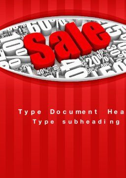 Clearance Sale Word Template Cover Page