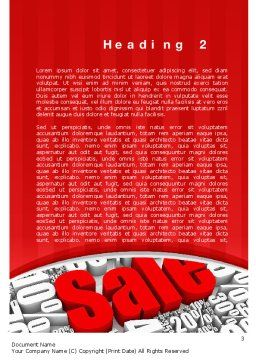 Clearance Sale Word Template, Second Inner Page, 10791, Careers/Industry — PoweredTemplate.com