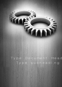 Interlocking Gears Word Template Cover Page