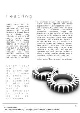 Interlocking Gears Word Template First Inner Page