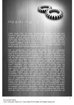 Interlocking Gears Word Template Second Inner Page