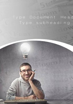 Sponsored Posts Word Template, Cover Page, 10801, Careers/Industry — PoweredTemplate.com