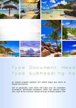 Seychelles Word Template, Cover Page, 10802, Nature & Environment — PoweredTemplate.com