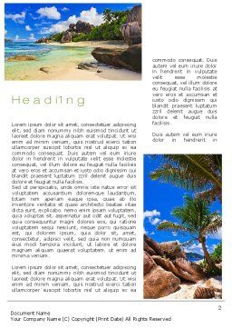 Seychelles Word Template, First Inner Page, 10802, Nature & Environment — PoweredTemplate.com