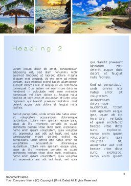 Seychelles Word Template, Second Inner Page, 10802, Nature & Environment — PoweredTemplate.com