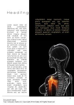 Shoulder Pain Word Template, First Inner Page, 10805, Medical — PoweredTemplate.com