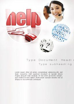 Virtual Receptionist Word Template, Cover Page, 10809, Careers/Industry — PoweredTemplate.com