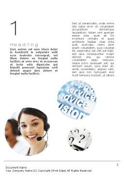 Virtual Receptionist Word Template, First Inner Page, 10809, Careers/Industry — PoweredTemplate.com