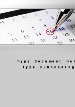 Tax Time Word Template, Cover Page, 10811, Financial/Accounting — PoweredTemplate.com