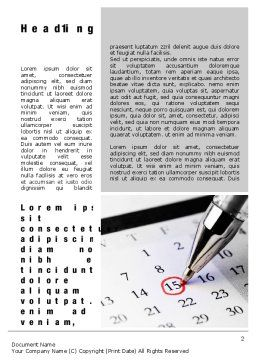Tax Time Word Template First Inner Page