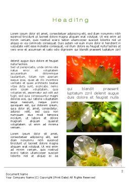 Strawberries Collage Word Template First Inner Page