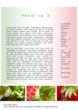 Strawberries Collage Word Template Second Inner Page