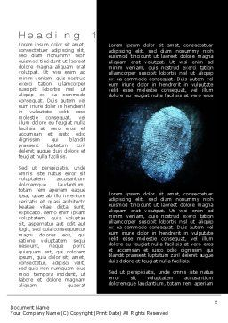 Fingerprint on Digital Screen Word Template, First Inner Page, 10814, Technology, Science & Computers — PoweredTemplate.com