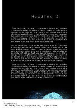 Fingerprint on Digital Screen Word Template, Second Inner Page, 10814, Technology, Science & Computers — PoweredTemplate.com