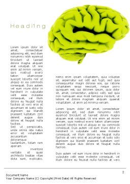 Cerebral Cortex Word Template, First Inner Page, 10815, Medical — PoweredTemplate.com