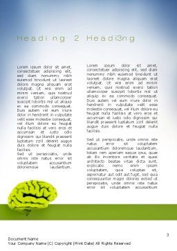 Cerebral Cortex Word Template, Second Inner Page, 10815, Medical — PoweredTemplate.com