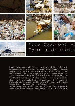 Pollution of Water Word Template, Cover Page, 10816, Nature & Environment — PoweredTemplate.com
