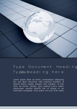 Glossy Transparent Globe Word Template Cover Page