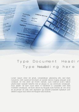 CV Writing Word Template Cover Page