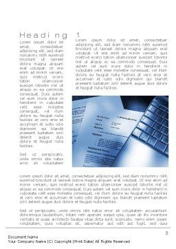 CV Writing Word Template First Inner Page