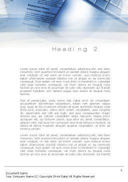 CV Writing Word Template, Second Inner Page, 10823, Education & Training — PoweredTemplate.com
