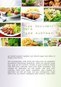 Recipes Word Template, Cover Page, 10824, Food & Beverage — PoweredTemplate.com