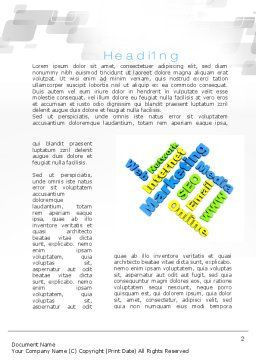 Internet Marketing Services Word Template First Inner Page