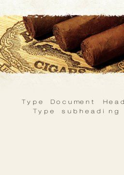 Cuban Cigars Word Template, Cover Page, 10828, Careers/Industry — PoweredTemplate.com