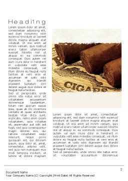 Cuban Cigars Word Template First Inner Page