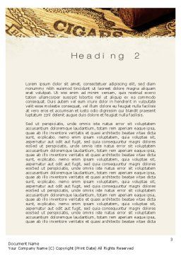 Cuban Cigars Word Template Second Inner Page