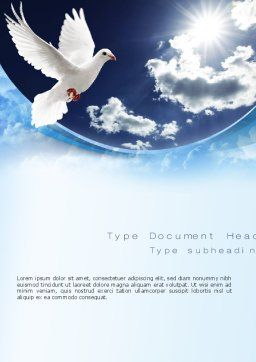 White Dove Word Template Cover Page