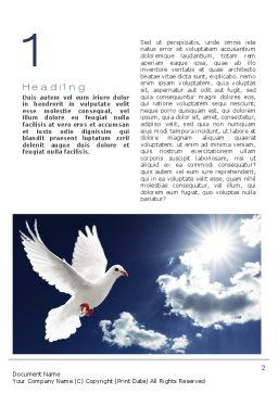 White Dove Word Template First Inner Page