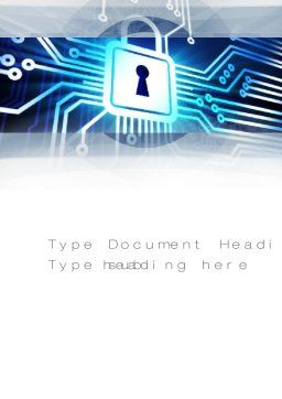 Online Security Word Template, Cover Page, 10834, Technology, Science & Computers — PoweredTemplate.com