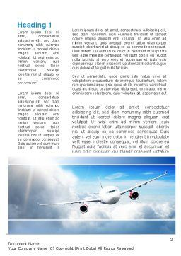 Sky Plane Word Template, First Inner Page, 10836, Cars/Transportation — PoweredTemplate.com