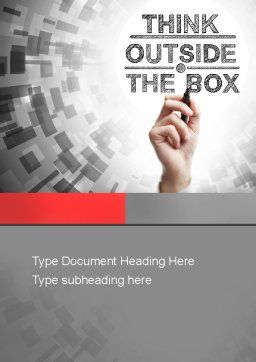Think Outside the Box Word Template Cover Page